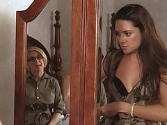 Beautiful babe Stephanie Swift plays with MILF Assistant Nina Hartley in her bedroom