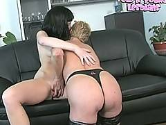 Filthy and wet with two horny lesbians
