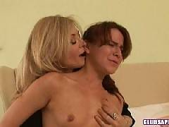 Annabelle Lee Gets Her Tight Pussy Fucked By Nina Hartley's Bondage Style Strap-On!