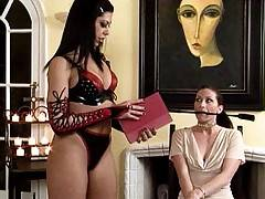 Satine Phoenix plays with Ariel X in these video clips before toying Ariel from behind
