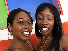 The orgasmic screams from these two black girls echo as they make each other cum loudly