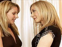 Samantha Ryan interviewed by Nina Hartley for a job as her assistant with benefits